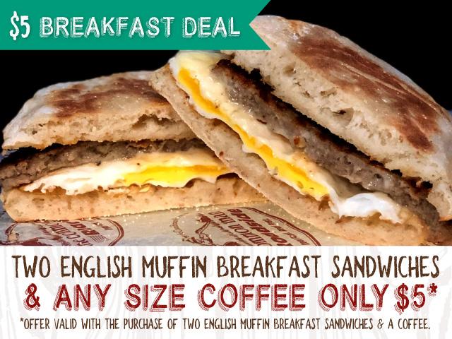 $5 breakfast deal