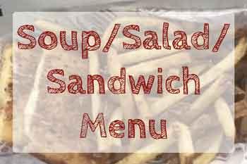 soup salad sandwich menu